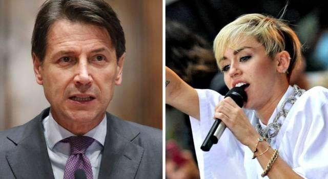 Miley Cyrus 'chiama' Giuseppe Conte, il premier risponde