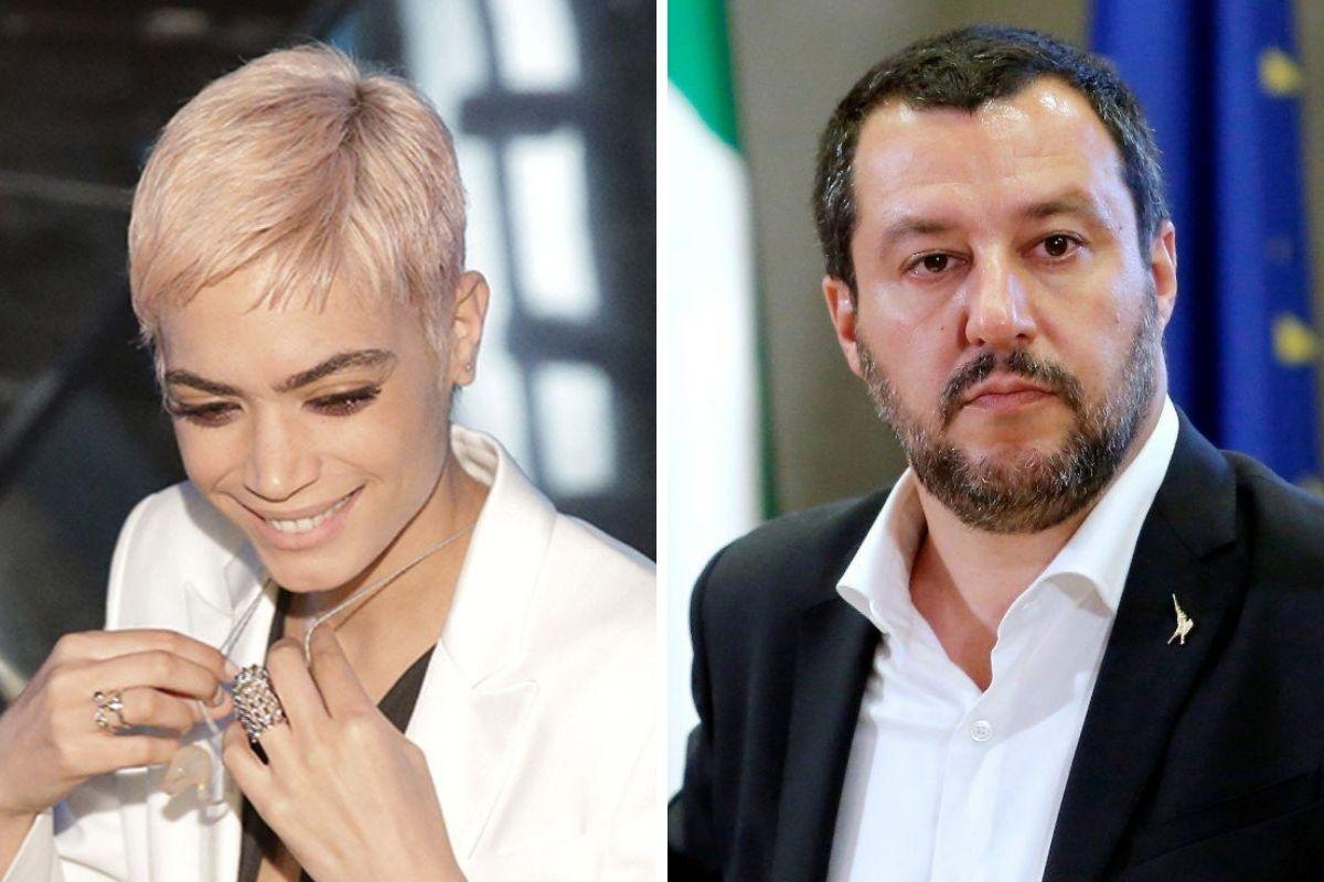 Elodie e Matteo Salvini