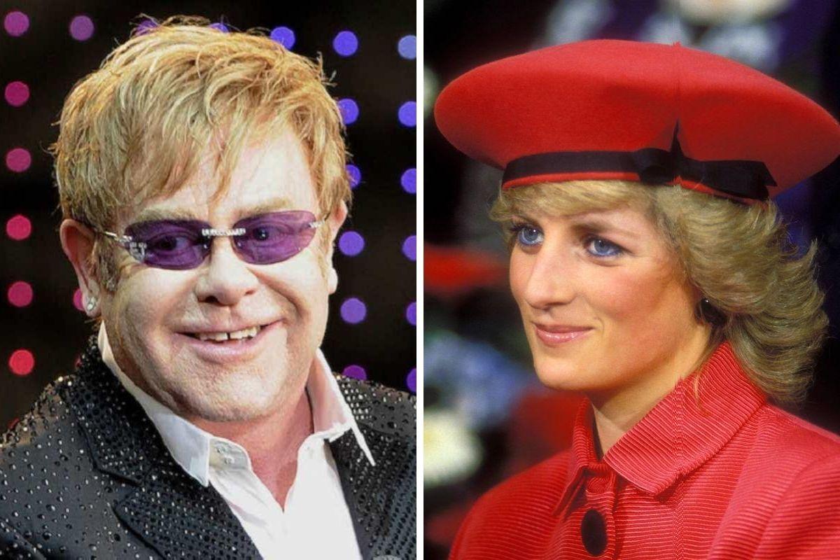 Elton John e Lady Diana