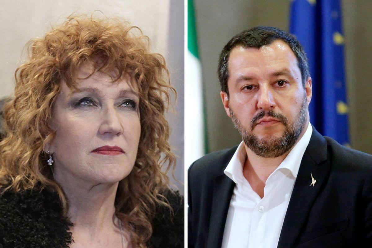 Fiorella Mannoia e Matteo Salvini