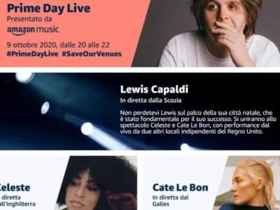 Lewis Capaldi protagonista di un live gratuito per Amazon Prime Day