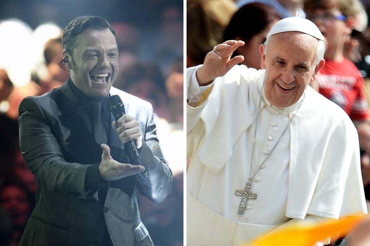 Tiziano Ferro e papa Francesco