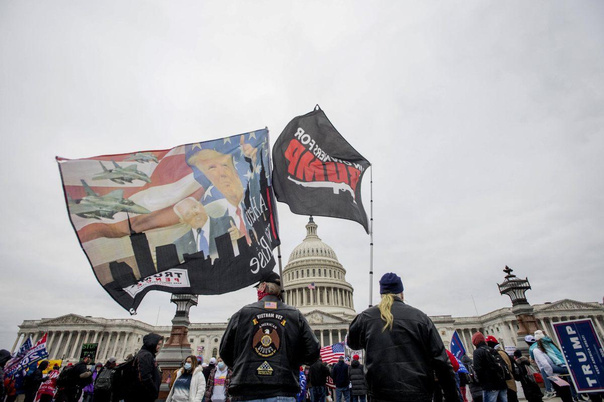 Manifestazione pro Trump Congresso USA 2021