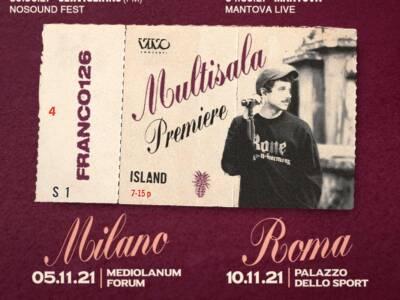Franco126 in tour nell'estate 2021: le date di Multisala Premiere