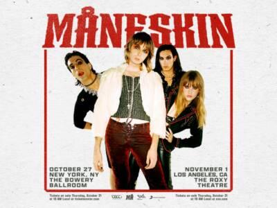 I Maneskin conquistano l'America: due date e un'ospitata al Jimmy Fallon Show